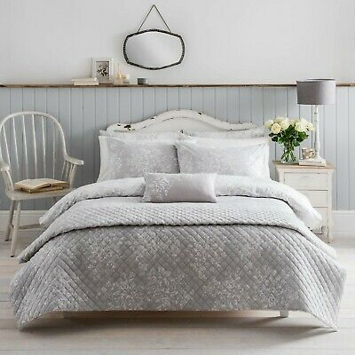 Washed Rose Duvet Cover Set + Pillowcase Grey Floral 100% Cotton By Cath Kidston • 50£