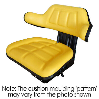 AU132 • Buy W222YL Tractor Seat With Base Yellow Universal Fit 120kg Max