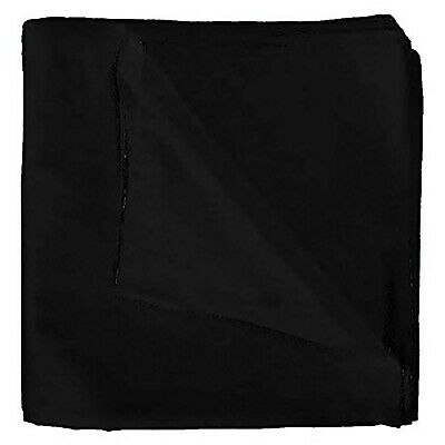 AU22.79 • Buy Pack Of 10 Uni Style Apparel Plain 100% Polyester 22 X 22 Inch Bandanas