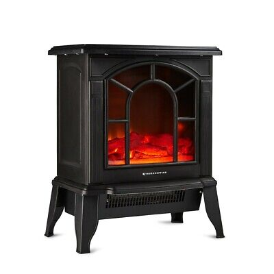 £69.99 • Buy Freestanding Electric Log Burner Stove Heater 1800W Fireplace With Flame Effect