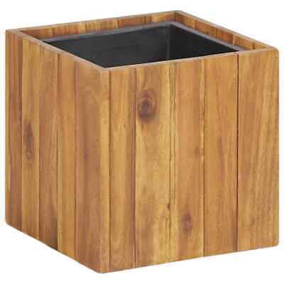VidaXL Solid Acacia Wood Garden Planter Pot Gardening Outdoor Flower Herb Box • 17.99£