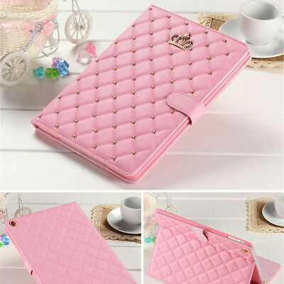£20.95 • Buy Leather Case For IPad 2 3 4 Air 3 10.5 9.7 Luxury Crown Diamond Bling Cover Pink