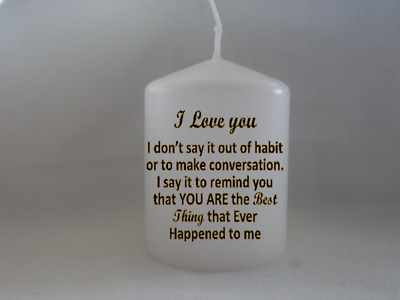 Lock Down Gift Romantic I Love You Poem Candle Isolation Gift For Her Him • 6.99£