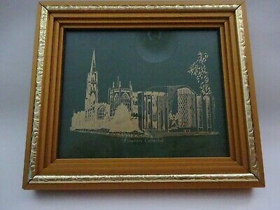 £7 • Buy Coventry Cathedral Mounted Glass Print