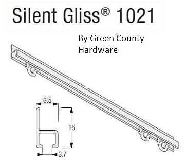 £25 • Buy Campervan / Motorhome Silent Gliss Curtain Track, 1.2 Mtr Face Fix Complete Kit