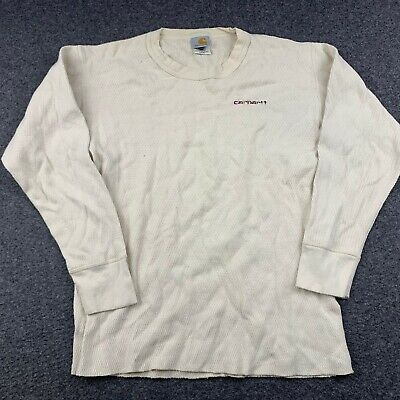 $16.09 • Buy Carhartt Thermal Base Layer Long Sleeve Top Shirt Spellout Size Large Worn