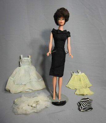 $ CDN155 • Buy Vintage Barbie Doll #850 (1964-65) Bubblecut Black Hair Original Outfits Lot