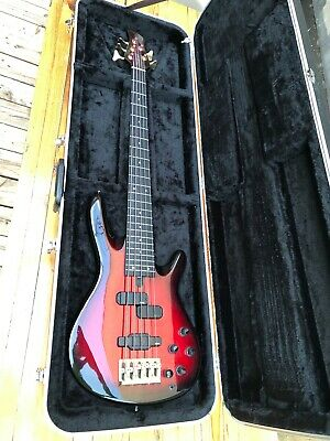 $ CDN3200 • Buy Yamaha TRB-5P Neck Through Red Burst 5 String Active Bass With Piezo P+J Pickup
