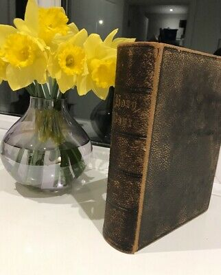 Damaged Antique Large To Be Read In Churches  Leather Bible Eyre & Spottiswoode • 39.99£
