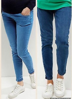 Blue New Look Maternity Skinny Jeans. Over Or Under Bump.10-20.RRP £24.99. BNWT • 6.29£