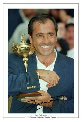 Seve Ballesteros Golf Signed Autograph Photo Ryder Cup 1997 • 1.89£