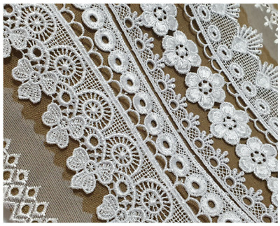 Vintage Lace Ribbon Trim Crochet Ivory/White Bridal Shabby Chic Sewing Wedding • 1.99£