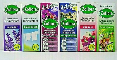 2 X ZOFLORA CONCENTRATED ANTIBACTERIAL Disinfectant 120ml CHOICE OF SCENT • 3.99£