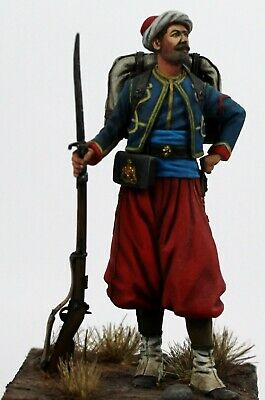Hand Painted French Crimean War Zouave Of The Imperial Guard 54mm Resin Figure. • 38£