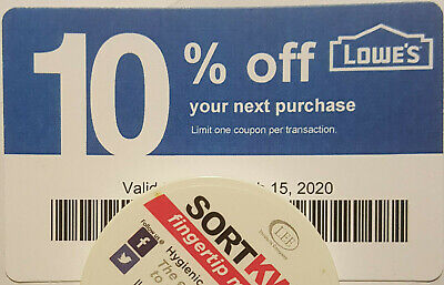 $10.87 • Buy Twenty (20) LOWES Coupons 10% OFF At Competitors ONLY NotLowes Exp FEBRUARY 2021