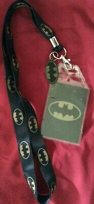 $8.95 • Buy Batman Lanyard With ID Badge Holder And Rubber Bat Charm NEW