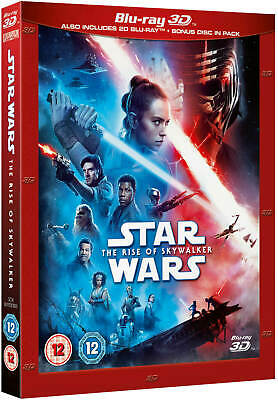 AU36.04 • Buy STAR WARS: THE RISE OF SKYWALKER [Blu-ray 3D + 2D] UK Exclusive 3D W/ Slipcover