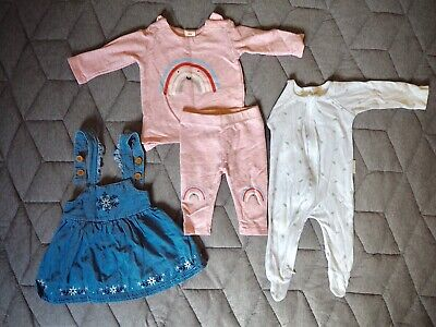 AU20 • Buy Baby Girl 0-3months 000 Clothing Pure Baby Seed Pink Blue White Rainbow