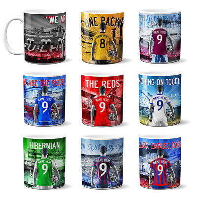 Personalised Football Mug Cup Retro Fan Supporter Birthday Christmas Gift AF  • 9.95£