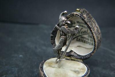 Best Antique Edwardian Silver Articulated 'Punch' Jester Charm/Pendant Rare • 175£