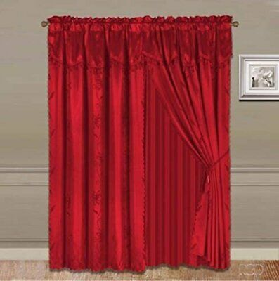 $25.89 • Buy Home 2 Window Curtain (120 W X 84  L) Valance And Sheer Backing And 2 Tassels.