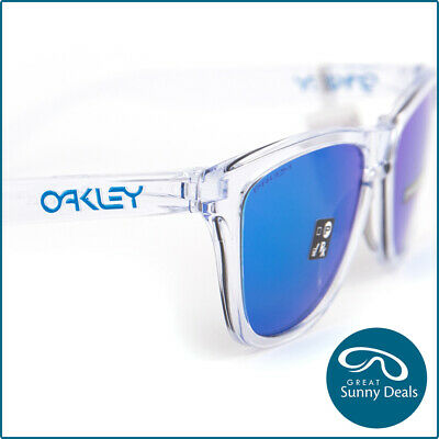 AU141.75 • Buy NEW Oakley Frogskins Crystal Clear Prizm Sapphire Iridium (9013-D0) Sunglasses