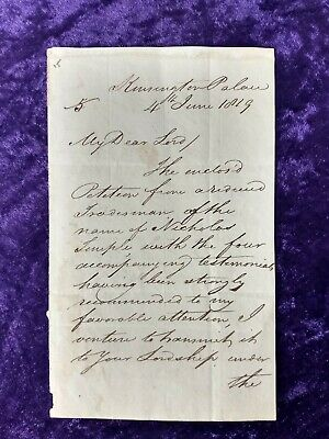 £329.99 • Buy 1819 Signed Letter Written By The Father Of Queen Victoria, The Duke Of Kent