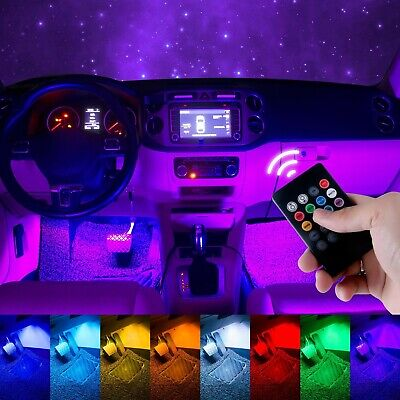 $18 • Buy 4X 36 LED Car SUV Interior Decor Neon Atmosphere Light Strip Music Control Color