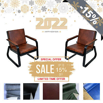 Retro Vintage Distressed Leather Tan Armchair Sofa Accent Chair Cafe Seat Bench • 99.99£