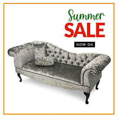 £299.99 • Buy Chesterfield Buttoned Crushed Velvet Tufted Sofa Chaise Lounge Accent Arm Chair