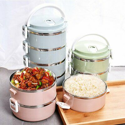 AU21.77 • Buy Stainless Thermal Insulated Lunch Box Food Storage Container Thermo Server Bento