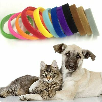 15 Colors Nylon Puppy Litter Identification Snap Collars ID Identification Bands • 1.99£
