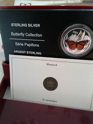 $22.16 • Buy Canada 2005 50 Cent Monarch Butterfly Sterling Silver Coin RCM W/ COA & Box