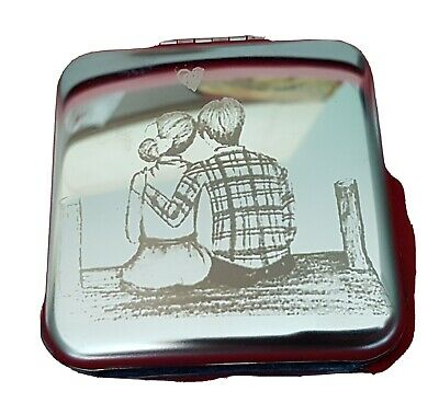Engraved Compact Mirror Loving Couple  • 7.85£