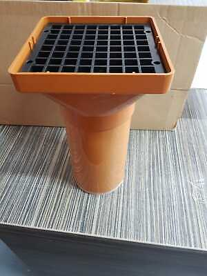 Underground Drainage  110mm Square Hopper And Grid With Extra Pipe Extention • 9.99£