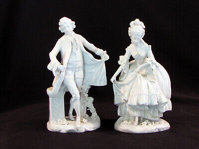 $ CDN129.07 • Buy Pair Of Porcelain Blanc De Chine Figures - Man & Lady - Mid 20c - 6 5/8