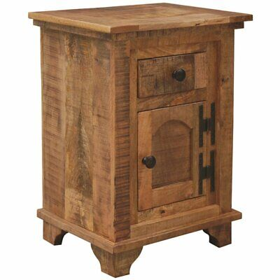 $226.63 • Buy Yosemite 1 Door And 1 Drawer End Table In Rustic Light Coffee