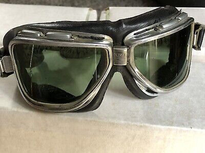 $45 • Buy Vintage Antique 1960s Motorcycle Goggles Climax 510 Original FREE SHIPPING