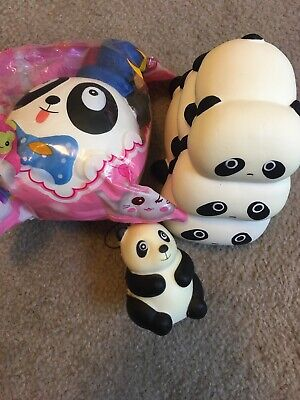 AU13.36 • Buy 3 Pieces Panda Squishies Slow Rising High Quality Clearance