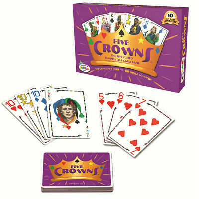 AU14.59 • Buy Five Crowns Card Game 5 Suites Classic Family Party  Indoor Game Toy Fun