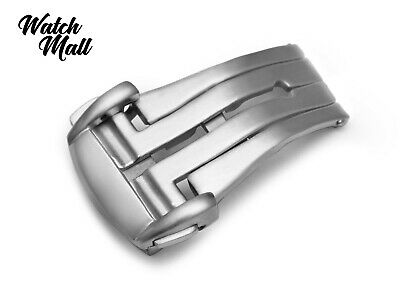 Fits OMEGA Matt Clasp Buckle SEAMASTER SPEEDMASTER For Watch Strap Band Silver  • 23.90£