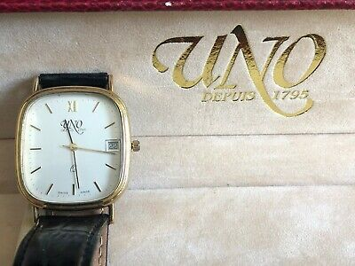 Uno 9ct Gold Hallmarked Watch Boxed With Certificate • 195£