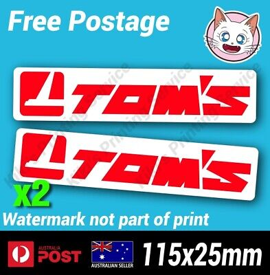 AU5.80 • Buy TOM'S Sticker - Toyota Vinyl Decal AE86 4age Drift JDM Japan 1JZ 2JZ 4agze X2