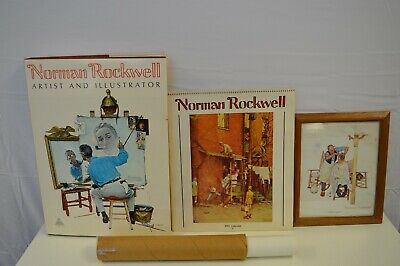$ CDN194.57 • Buy Norman Rockwell HUGE Book, Calendar, Framed Art Print  Shear Agony ,Posters