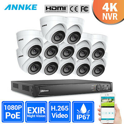 ANNKE 4K 8MP 16CH NVR Dome CCTV HD 1080P IP Camera Home Security POE System IP67 • 639.99£
