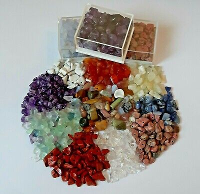 £3.50 • Buy Drilled Crystal Chips Various Stones Assorted For Hobbies & Crafts