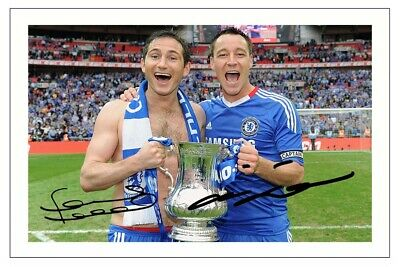 £1.89 • Buy FRANK LAMPARD & JOHN TERRY Signed Autograph PHOTO Gift Signature Print CHELSEA