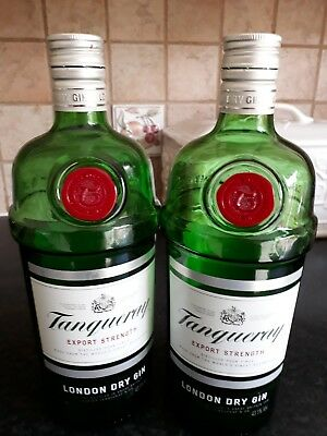 Tanqueray Bottles X 2   1Lt Size For Crafts • 6.99£