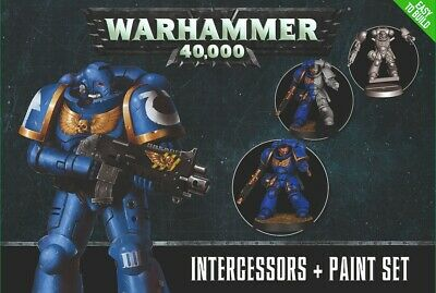 Games Workshop Warhammer 40000 Intercessors + Paint Set Easy To Build • 18£