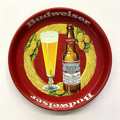 $ CDN63.49 • Buy Vintage 1940's Anheuser Busch Budweiser Beer Bar 13  Metal Serving Tray